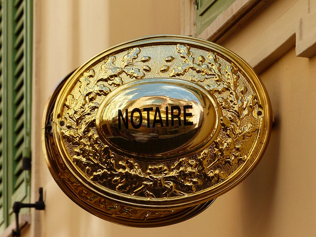 Panneau office notarial